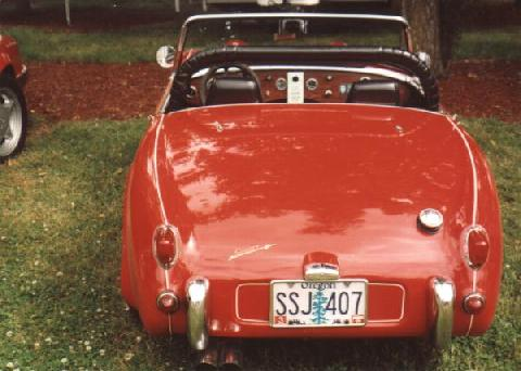Austin Healey Frogeye Sprite (rear view)