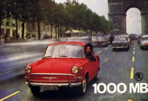 Skoda 1000 Mb Brochure (1965)