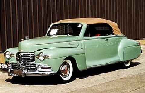 Lincoln Zephyr Convertible Green Tu (1948)