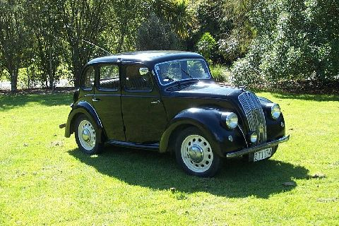 1948 Morris 8 series e, 918 cc sidvalve engine. In daily use Nelson New Zealand