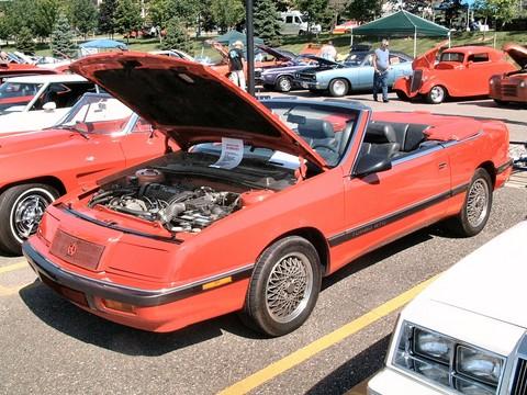 1989 Chrysler LeBaron Turbo GTC Convertible Red fvl (2004 CE